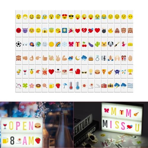 108pcs colores intercambiables símbolos de emoción caracteres cartas combinación gratis para bricolaje LED Cinema caja de luz tablero de mensajes para aniversario de cumpleaños boda tienda signo niños estudio
