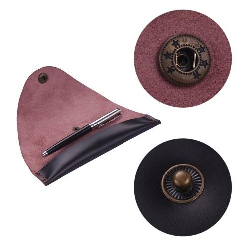 Antikes Leder Stift Fall Brunnen Handmade Sleeve Tasche Pouch Protector für Single Pen Stylus Kugelschreiber 7 * 1,2 ''