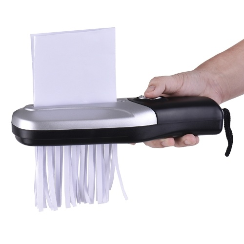 Portable Handheld Paper Shredder Cutter A6 Folded A4 Strip Cut USB/Batteries Operated Cutting Machine Tool for Home Office School Stationery