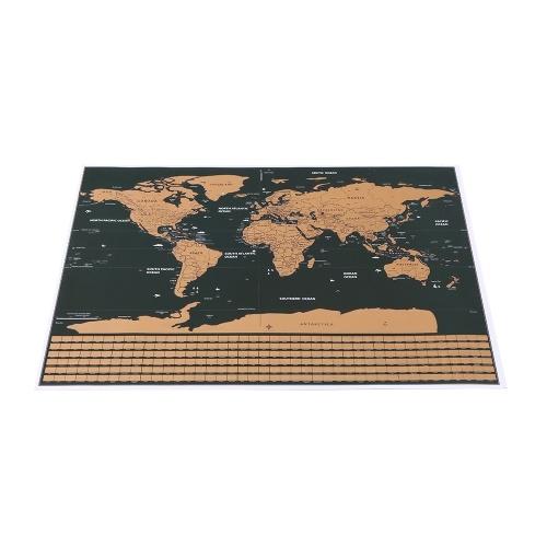 Mappa di viaggio del mondo di Gratta e Vinci con la bandiera nazionale