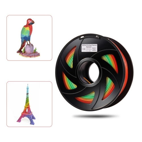 1.75mm 1Kg/Roll PLA 3D Printer Filament Color Changing (Color Random Delivery)