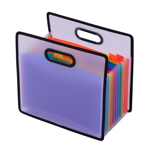 Расширяющаяся папка для файлов Accordian, шкаф для документов формата А4, 12 карманов, цветной портативный органайзер для чеков