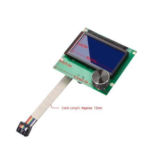 Creality 3D LCD Display Screen Controller Module LCD Screen with Cable for Ender-3/Ender-3s/Ender-3 Pro 3D Printer Accessories Parts