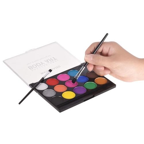 Gesichtslack-Kit Professionelle auf Wasser basierende Gesichts- und Körperfarbe Klar waschbar Ungiftige Farben Ideal