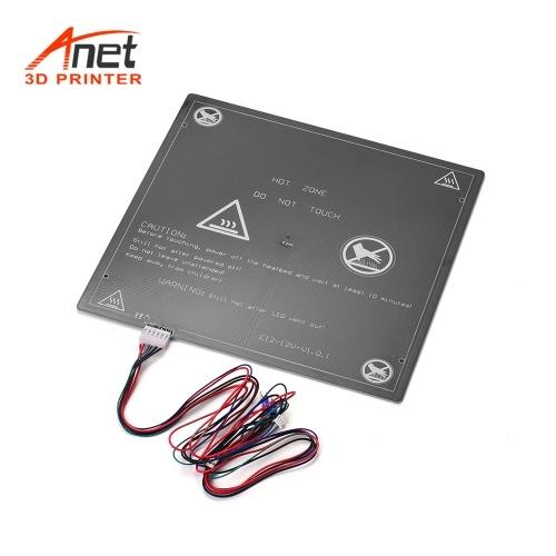 Anet 12 В 3D-принтер Горячая кровать Нагревательная платформа Алюминиевый станина 300 * 300 * 3 мм с проволочным шнуром с горячей кроватью для обновления 3D-принтера Anet E12 (1 шт.)