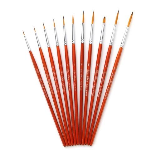 11pcs Draw Paint Brushes Kit Set
