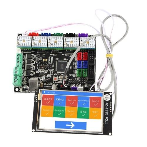 Accessori per stampanti 3D Touchscreen WiFi a colori da 3,5 pollici con scheda madre MKS GEN L e supporto driver TMC2209 V2.0 9 lingue