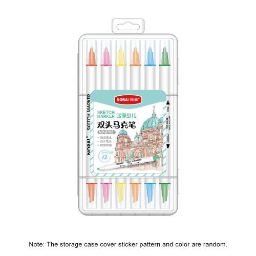 12 Farben Dual Tips Art Markers Set