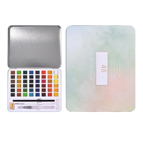 36 Farben Feste Aquarellfarbe Pigment Zeichnung Malerei Set mit Wasserpinsel Pinsel Bleistift Radiergummi Schwamm für Künstler Anfänger Studenten Erwachsene