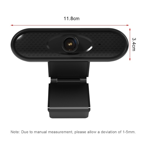 USB Computer Webcam HD 1080P Web Camera Built-in Noise Reduction Microphone with Clip-on Base for PC Laptop Desktop Video Calling Recording Home Office Conferencing Live Streaming Online Teaching