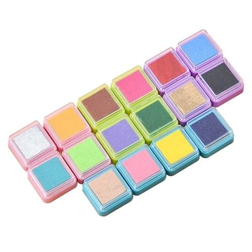 16 цветов радуга чернила Pad краска для пальцев милые чернила Pad для резиновых штампов уплотнения DIY бумага для скрапбукинга журнал украшения подарочные карты изготовление