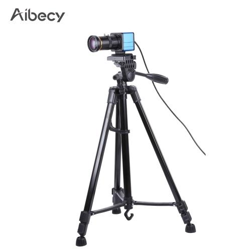 Caméra Aibecy 1080P HD Caméra d'ordinateur Webcam 2 mégapixels Zoom optique 10X Grand angle 80 degrés Mise au point manuelle Compensation d'exposition automatique avec microphone Trépied USB Plug & Play pour la visioconférence Enseignement en ligne Discuter Webcasting en direct
