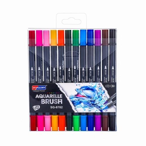 SKYGLORY Dual Tips Brush Art Набор маркерных ручек
