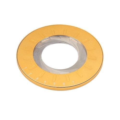 Strumento di disegno del cerchio Strumento geometrico di dimensioni regolabili Righello di misurazione del modello di cerchio rotondo girevole flessibile in acciaio inossidabile