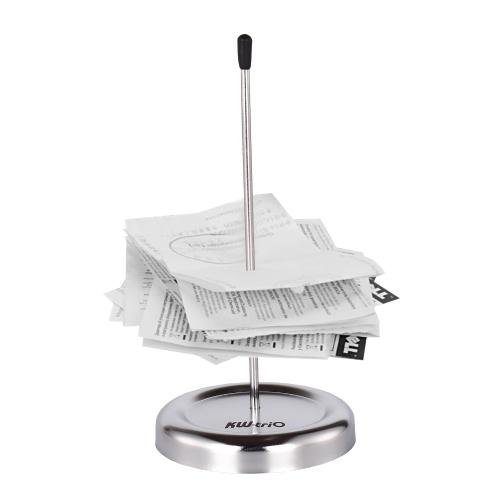 Porta ricevute da scrivania con asta diritta interamente in metallo KW-trio
