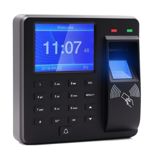 Aibecy Access Control Time Attendance Machine Fingerprint/Password/ID Card Recognition Time Clock with...