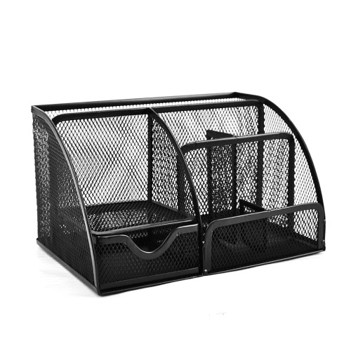 7 storage compartments multi functional mesh desk organizer pen 7 storage compartments multi functional mesh desk organizer pen holder stationery storage container box collection reheart Gallery