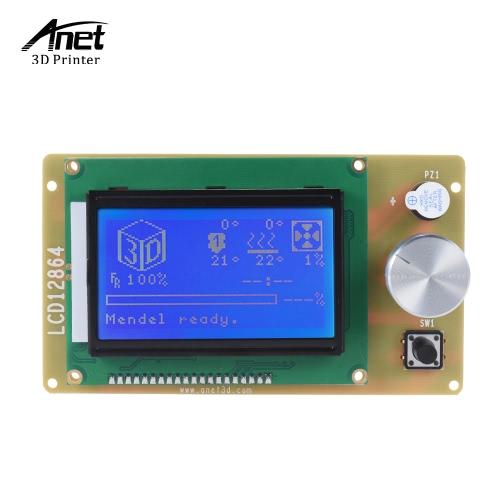 Anet 12864 LCD Inteligente Display Module controlador de tela com cabo para rampas 1.4 Kit Printer Arduino mega Pololu Escudo Arduino RepRap 3D Acessório