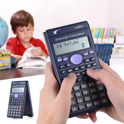 Contador Scientific Calculator 240 Funções 2 Line LCD escritório de negócio médios da High School Student SAT / AP Teste Calcular