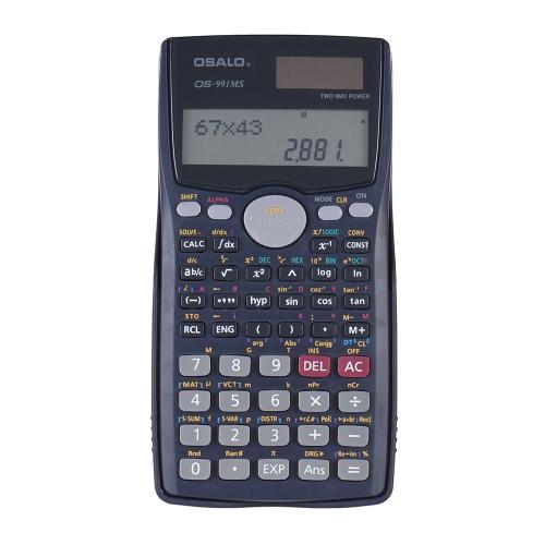 Scientific Calculator Counter 401 Funções Matrix Dot Vector Equação Calcular Solar e Bateria Dual Powered 2 Line Display Escritório de Negócios Middle High School Student Teste SAT / AP Calcular