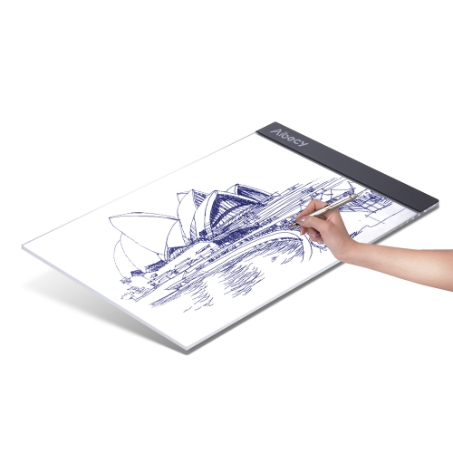 Portable A4 LED Light Box Tracing traccia Tracer Copy Board Tavolo Pad Panel Copyboard con cavo USB per artista Animazione Sketching Architecture Calligrafia Stenciling Diamond Painting