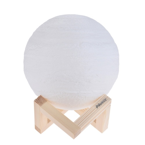3D Print Jupiter LED Lamp Touch Switch Brightness Adjustable with Wooden