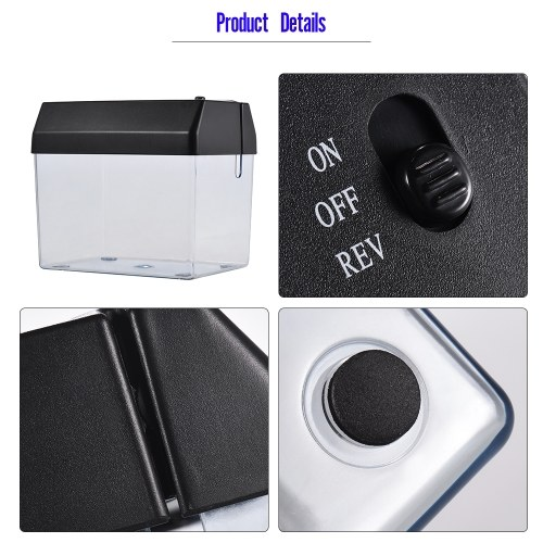 Mini Portable USB Paper Shredder Cutter Strip Cut A6 Folded A4 Cutting Machine Tool with Letter Opener Wastebasket for Office Home School Desktop Stationery