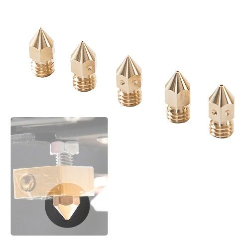 Creality 3D Printer Universal Nozzles Kit Brass Extruder Print Head Size 1*0.2mm/2*0.4mm/1*0.6mm/1*0.8mm with Spanner Tool for 1.75mm&3mm Filament