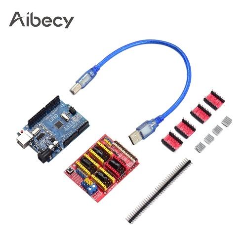 Aibecy 3D Printer Accessories CNC Shield UNO-R3 Board A4988 Driver Kit фото