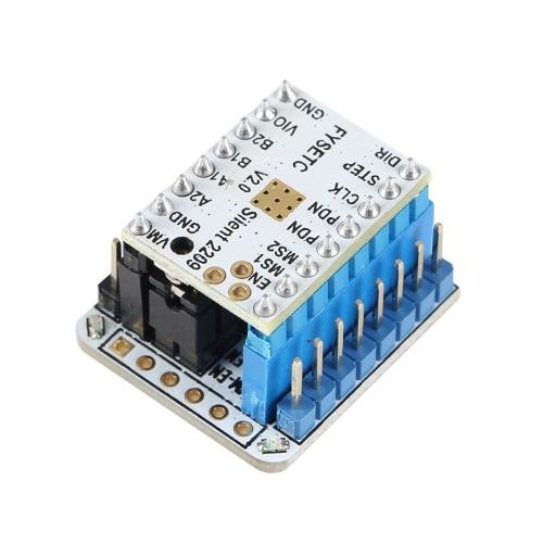 Parti della stampante 3D TMC2209 v2.0 + kit tester Modulo TMC2209 v2.0 con intestazioni impilabili + tester Kit adattatore seriale USB