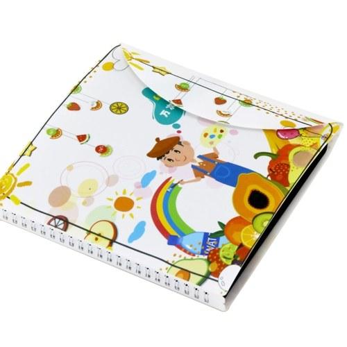 Портативный стираемый блокнот для рисования многоразовый блокнот для рисования 8x8 дюймов внутренняя страница с 12 цветными стираемыми ручками для детей