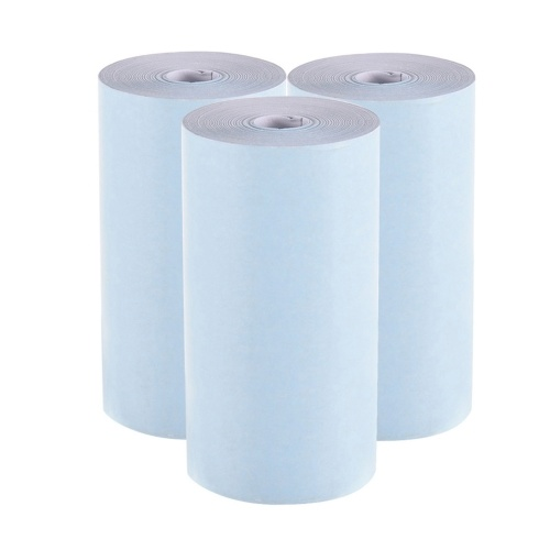 Цветная термобумага Aibecy, рулон 57 * 30 мм, фотобумага для квитанций, прозрачная печать для карманного термопринтера PeriPage A6 для мини-фотопринтера PAPERANG P1 / P2, 3 рулона