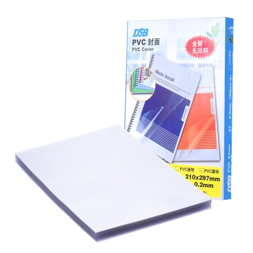 DSB 100 Lençóis Frosted A4 PVC Cover Cover Cover 0.2mm Transparente School Office Supply Stationary for Book Document File