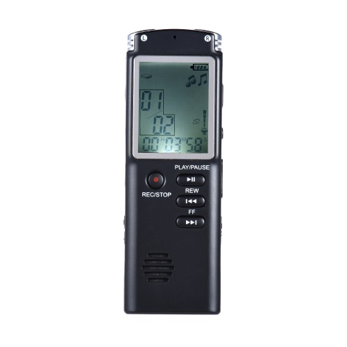 SK-301 8GB 1536Kbps Audio Voice Recorder MP3 Music Player Dictaphone Voice Activate(VAR) A-B Repeating Telephone Conversation Recording