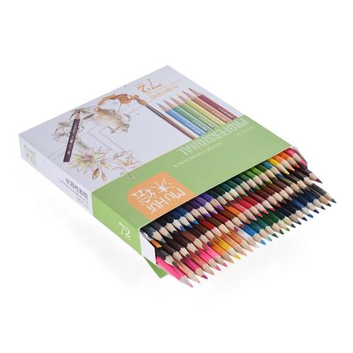 72 de cor Premium Pré-Sharpened solúveis em água Lápis água colorida com a escova para crianças Adultos artista Desenho Art Esboços escrita arte Livros de Colorir