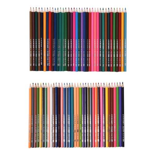 72 Premium Kolor Pre-Zaostrzone rozpuszczalne w wodzie Woda kolorowymi kredkami z pędzla dla dzieci Dorośli Artysta rysunek sztuka szkicowania pisanie grafika kolorowanki