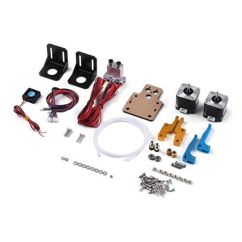 TEVO Dual Extruder Upgrade Full Kits Dual Extruder & 3010 Cooling Fan & 2 * Steps Motor para impressora 3D