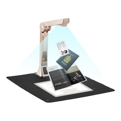 Scanner de Câmera de Documento USB A4 de Alta Velocidade Portátil para Sala de Reunião