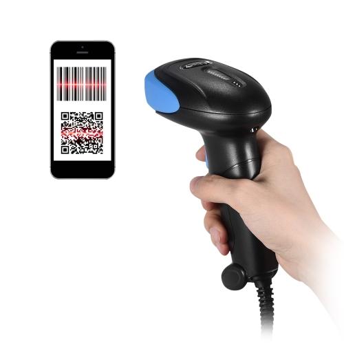 Ręczny skaner kodów kreskowych 2D / QR / 1D Aibecy Czytnik kodu kreskowego 1600 razy / s Dekoder 32-bitowy z kablem USB do sklepu w supermarkecie