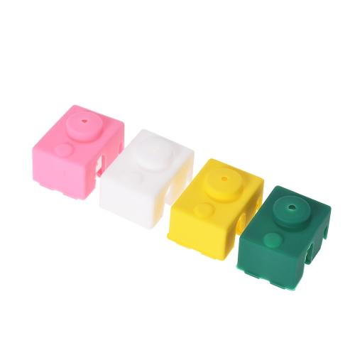 1 pc E3D V6 PT100 Hotend Block Silicone Cover Sock 25 * 18 * 15mm Części drukarki 3D