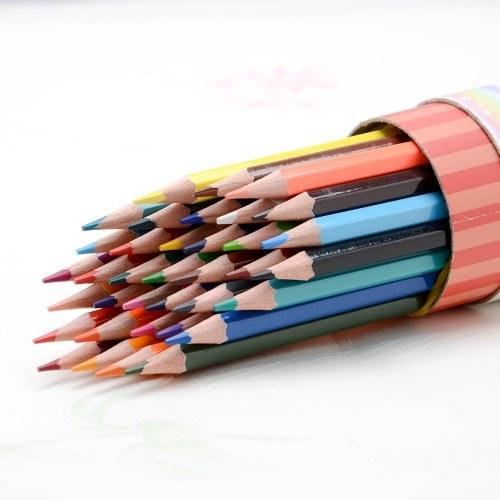 tenwin Предварительно заостренные цветные карандаши Художественное рисование Картина Чертежи для карандашей Набор для офисных школьных принадлежностей Раскраски, 24 цвета