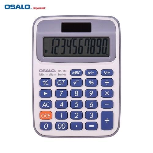 Contador eletrônico portátil da calculadora do Desktop pequeno de OSALO com a grande exposição do LCD de 10 dígitos Potência dupla Solar & a pilhas para a escola do negócio do escritório de casa