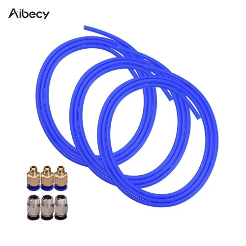 Aibecy 3pcs Blue PTFE Tube Hose Pipe