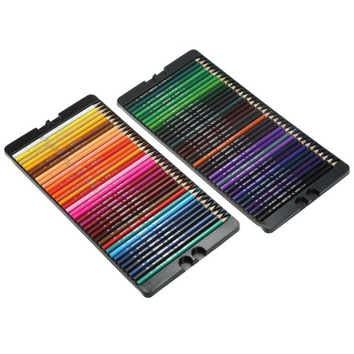 Professional 72 Colored Pencils Set Art Oil Color Pencils