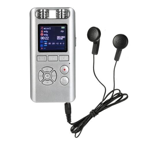 Gravador de voz digital portátil reprodutor ditafone MP3