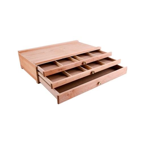Cavalletto portaoggetti in legno con custodia per desktop portatile