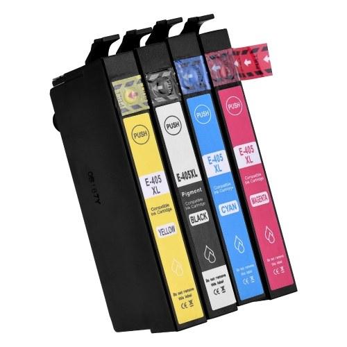 Austausch der Aibecy 405XL-Tintenpatronen für 405 405XL Kompatibel mit Epson WF-3820DWF WF-3825DWF WF-4820DWF WF-4825DWF WF-4830DTWF WF-7830DTWF WF-7835DTWF WF-7840DTW