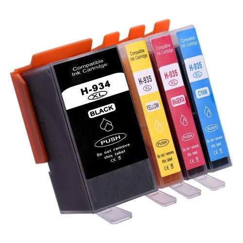 Замена совместимых картриджей Aibecy для HP 934 935 XL 934XL 935XL Совместимость с HP Officejet Pro 6230 6830 6835 Принтер HP Officejet 6220 6812 6815 6820, упаковка из 4 штук OS4609-4