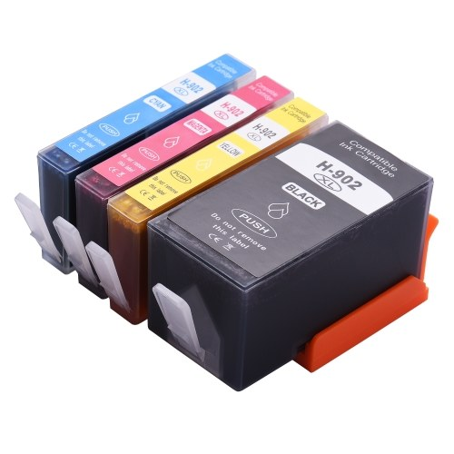 Aibecy Compatible Ink Cartridge Replacement for 902XL High Yield Compatible with HP OfficeJet 6950 HP OfficeJet Pro 6960 6962 6968 6970 6974 6975 6976 6978 All-in-One Printer 4-Pack (1 Black, 1 Cyan, 1 Magenta, 1 Yellow)