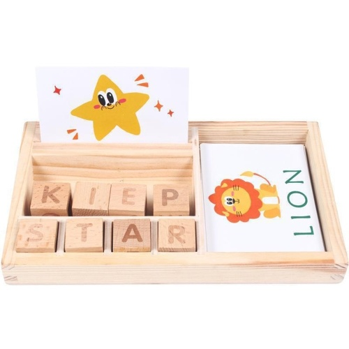 Wooden Spelling Words Game Matching Letter Game Alphabet